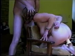 Sexy amateur housewife gets her first BDSM mouth fuck and humiliation